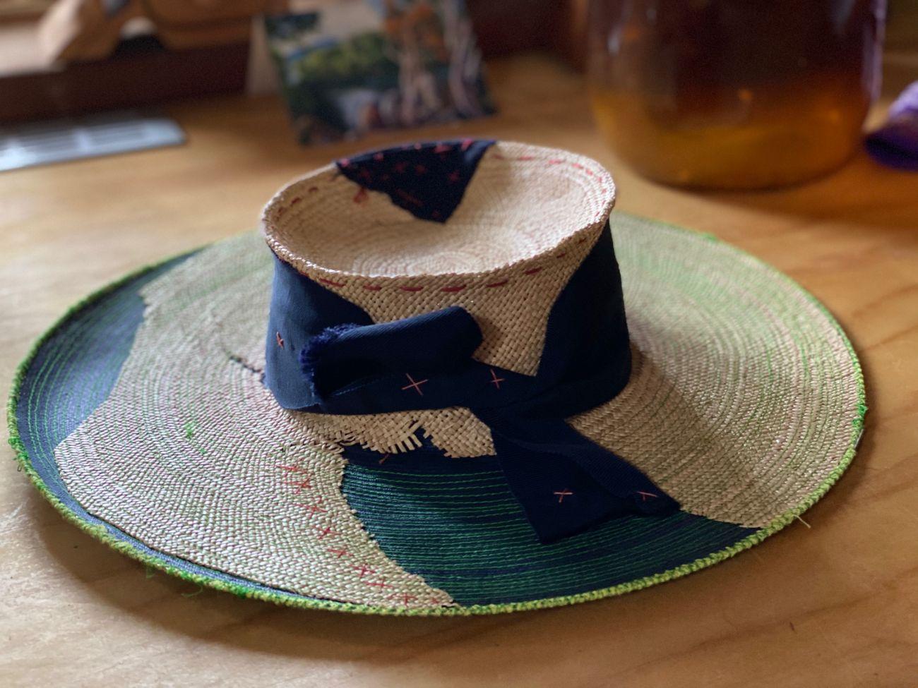 Stitched Summer hat by Waltraud Reiner
