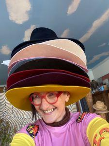 Many hats of Waltraud Reiner