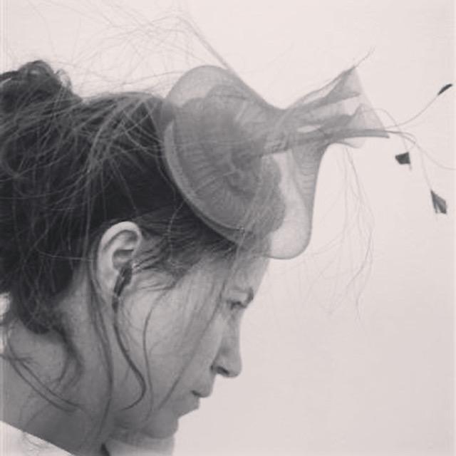 Crinoline headpiece by Waltraud Reiner