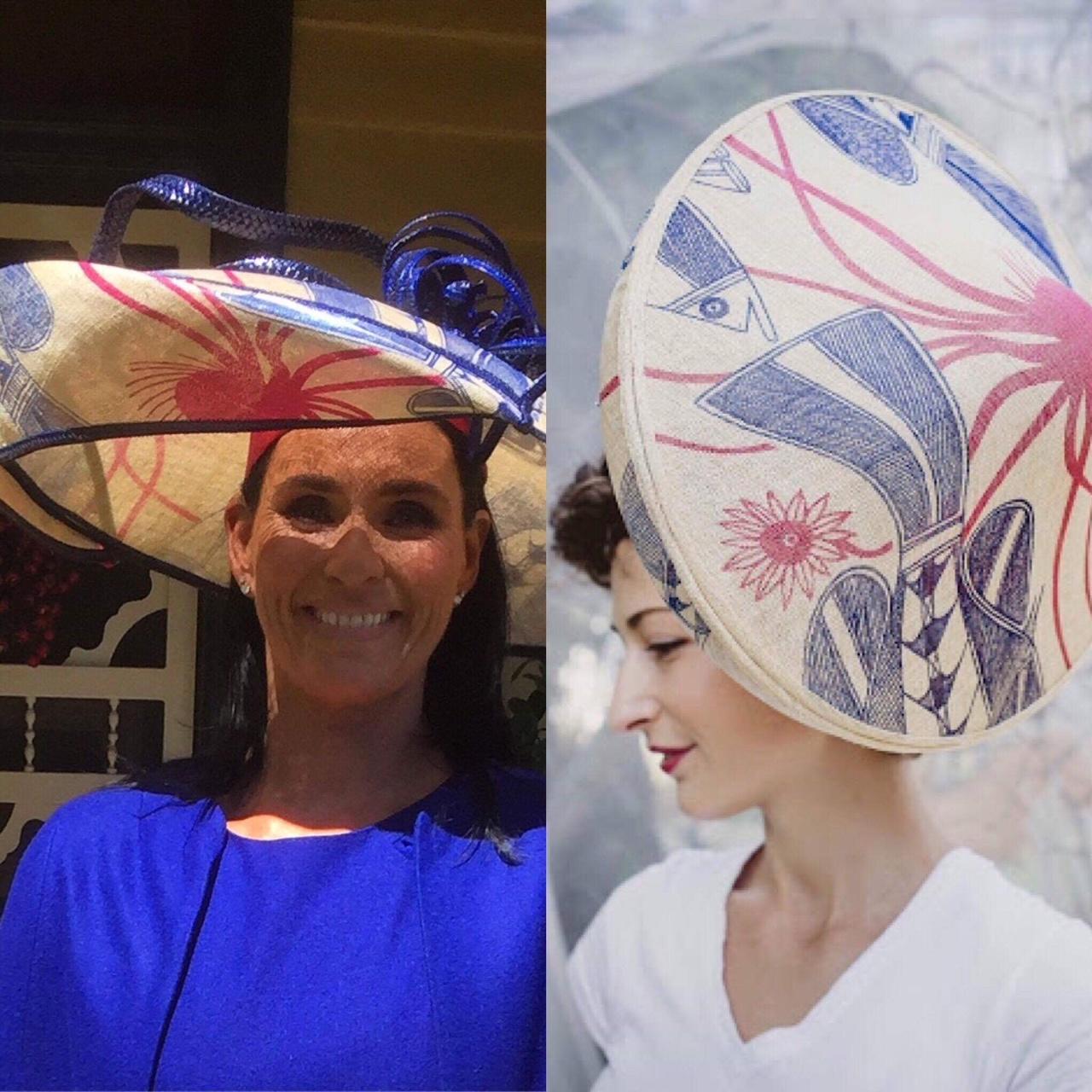 Printed hat by Waltraud Reiner