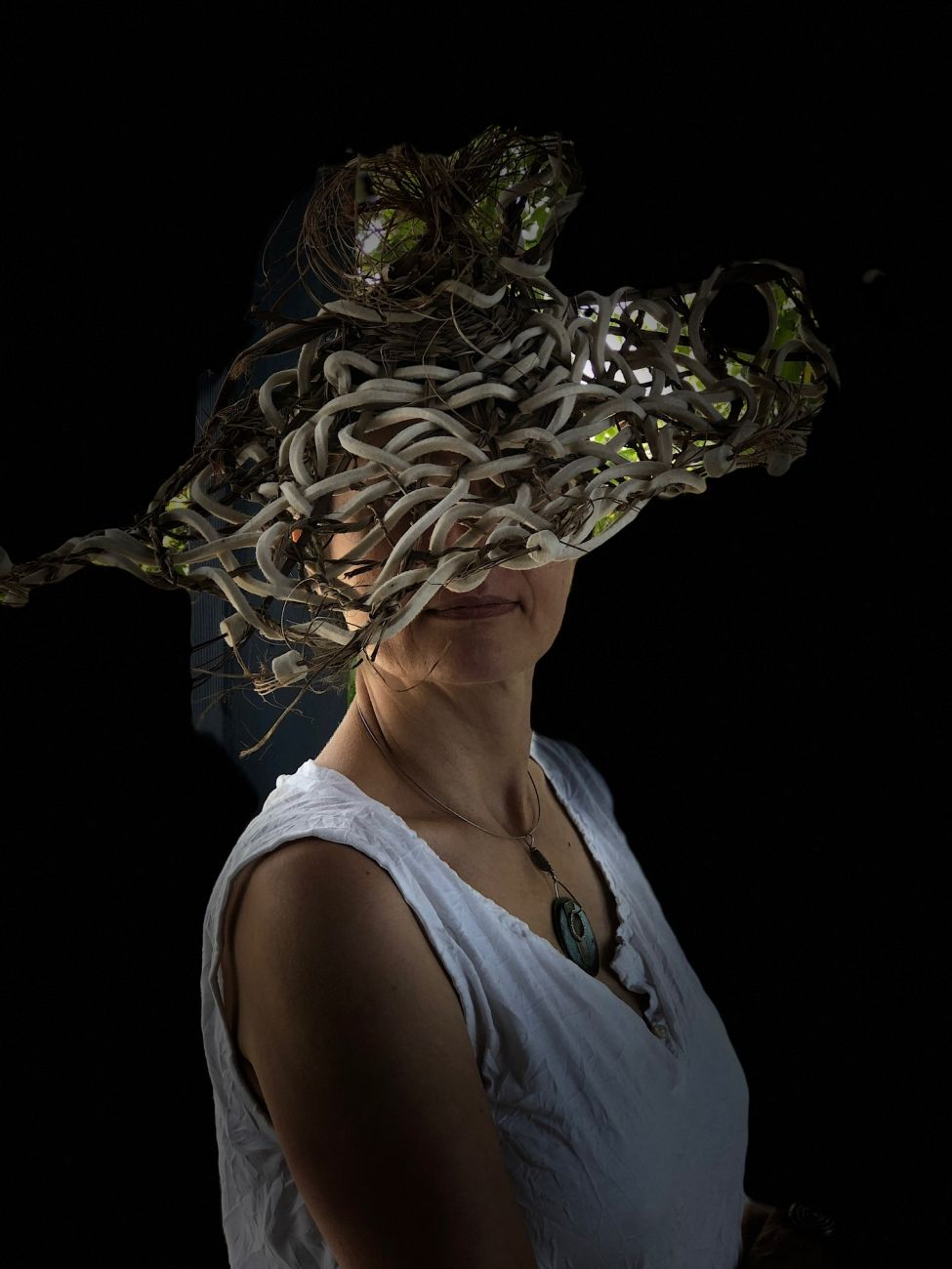 Knitted hat by Waltraud Reiner