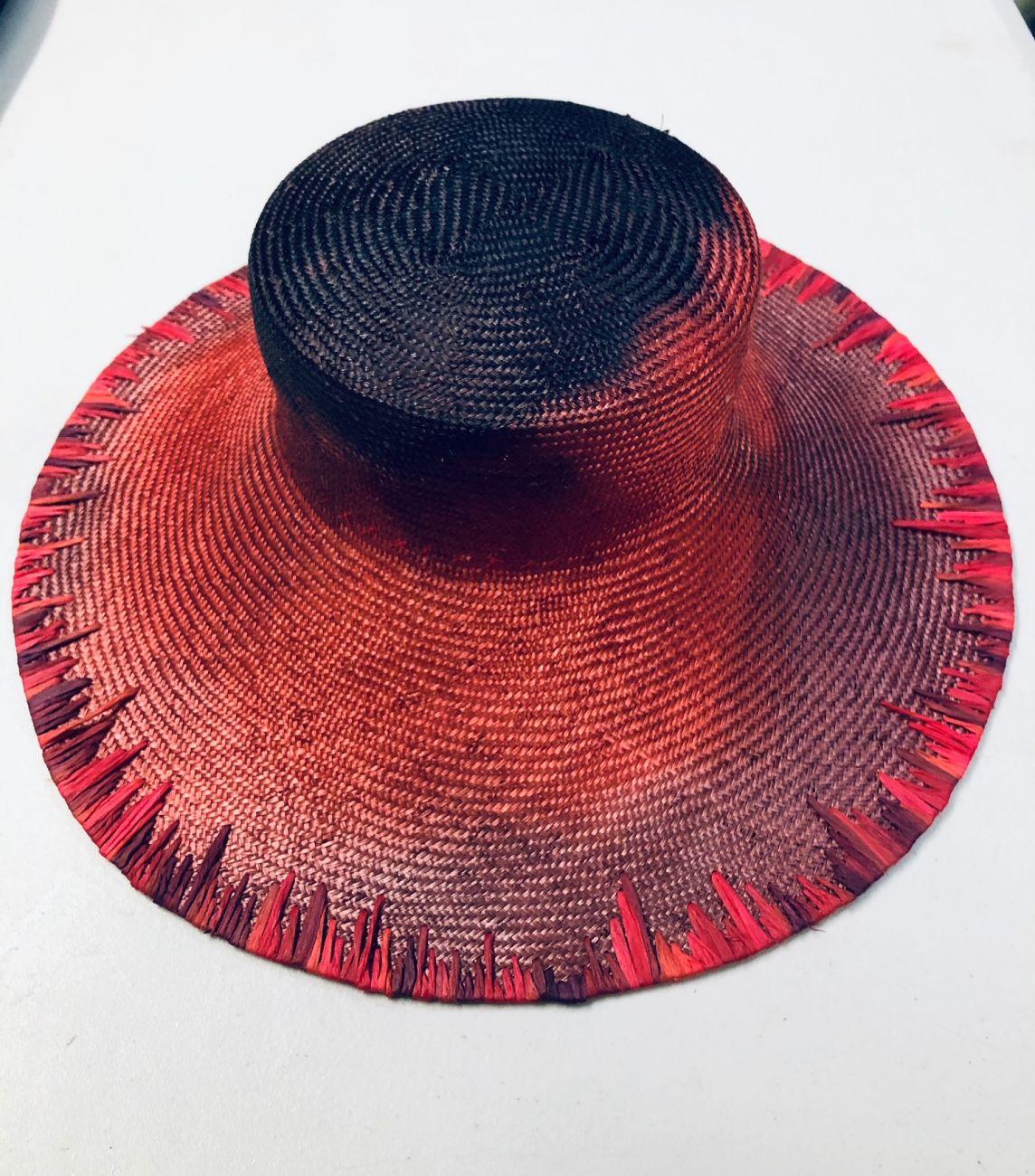Aurburn and navy hat by Waltraud Reiner